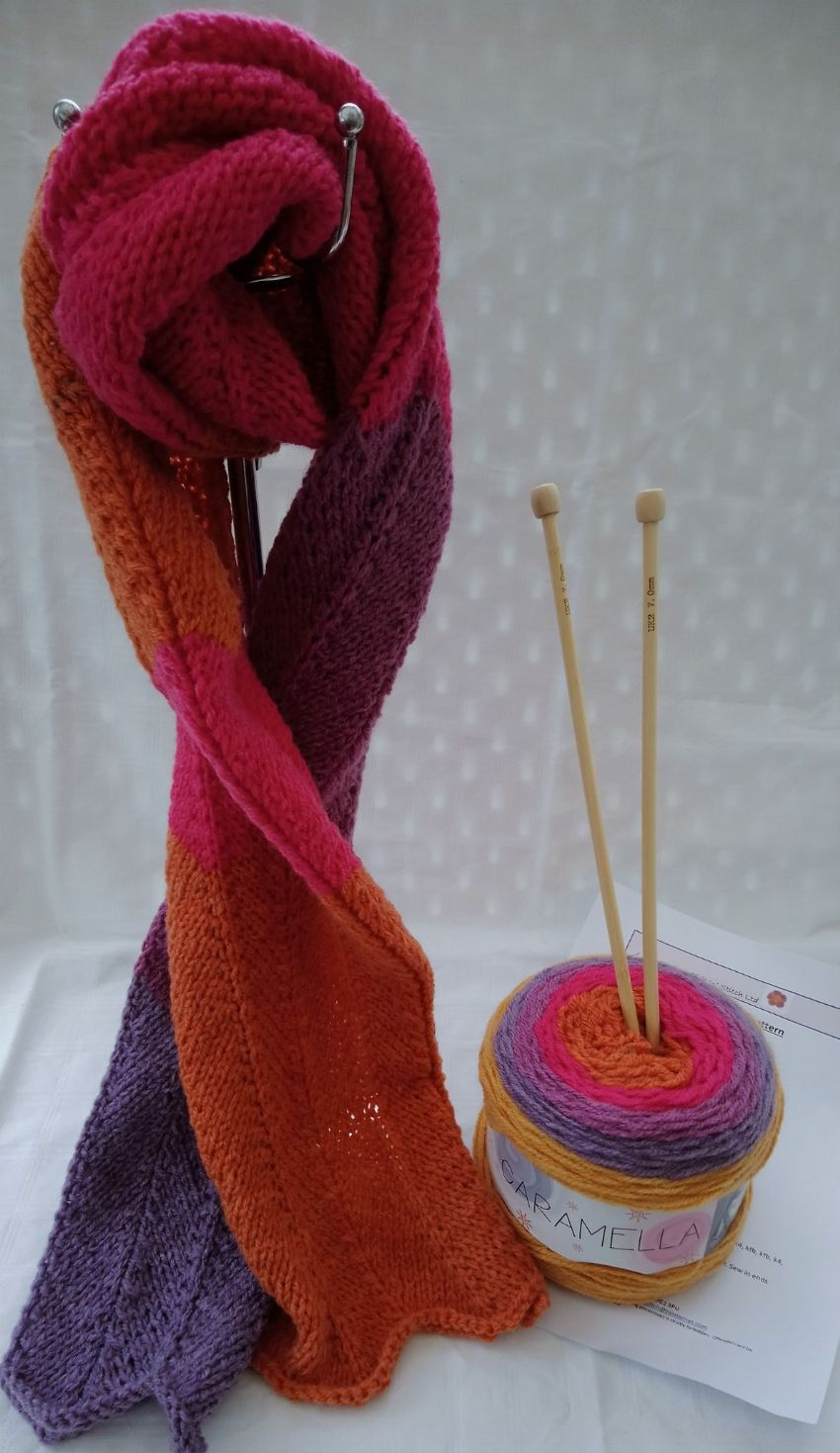 Caramella Scarf Knitting Kit